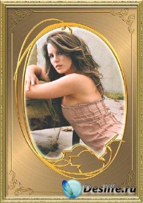 Рамка для фотошопа - Золотой портрет