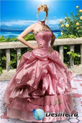 Женский костюм для фотошоп – На балконе