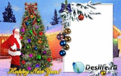 Рамочка для фотошопа - С Новым Годом
