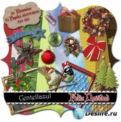 Скрап-набор для фотошопа - Feliz Navidad