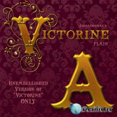 Клипарты для фотошопа - Викторианский алфавит