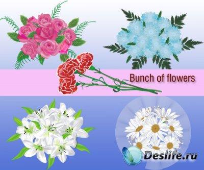 Bunch of flowers - Векторные клипарты для фотошопа
