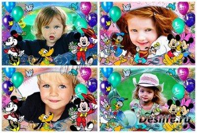 Детская рамка для фотошопа - Праздничная