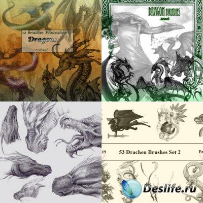 Dragon Brushes - Пять наборов кистей для фотошопа