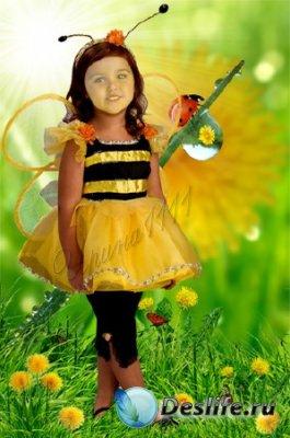 Детский костюм для фотошопа - Пчёлка