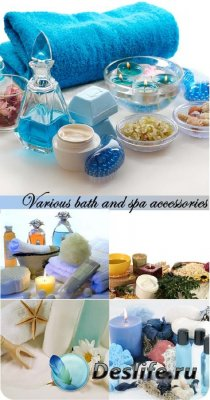 Stock Photo: Various bath and spa accessories
