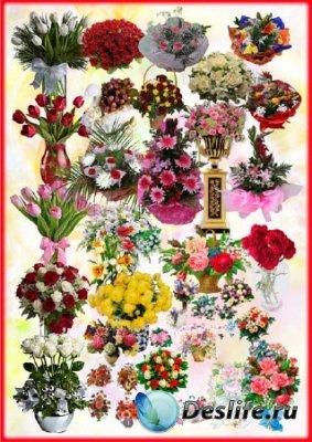 Клипарт для фотошопа - Цветочные букеты