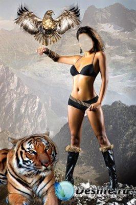 Костюм для фотошопа - Амазонка и звери