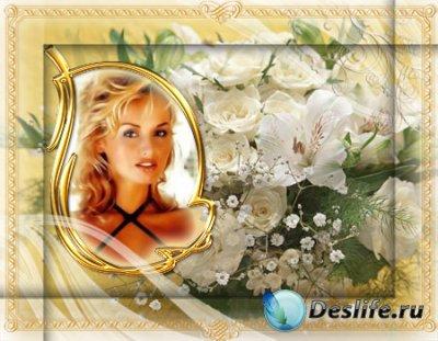 Рамка для фотошопа на фоне цветов