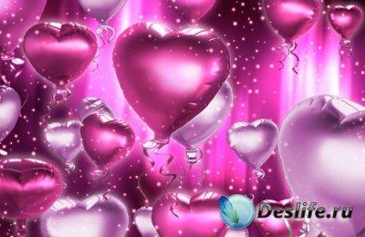 Воздушные шарики - сердечки