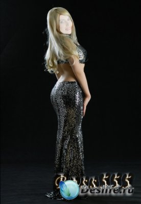 Костюм для фотошопа - Блондинка-серебро 2
