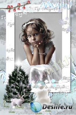 Рамка для фотошопа - Зимняя музыка