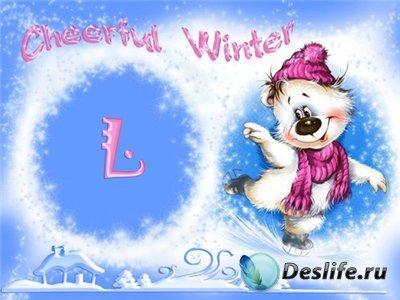 Детская рамочка для фотошопа – Весёлая зима