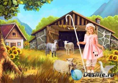 Детский костюм для фотошопа - Пастушка