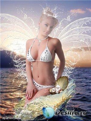 Женский костюм для фотошоп – Морская фея