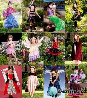 Детские костюмы для фотошопа - Для девочек