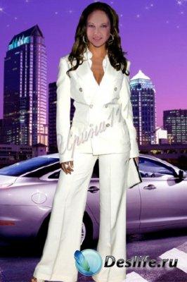 Женский костюм для фотошопа - Мегаполис