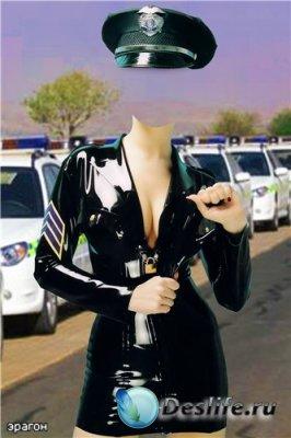 Женский костюм для фотошоп – Полиция