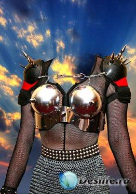 Костюм для фотошопа - Armor Girl (PSD)