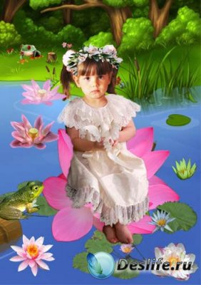 Детский костюм для фотошопа - В кувшинке