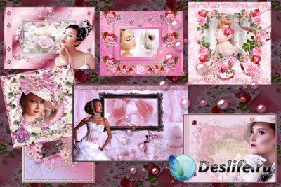 Набор рамочек для фотошопа «Всё в розовом цвете»