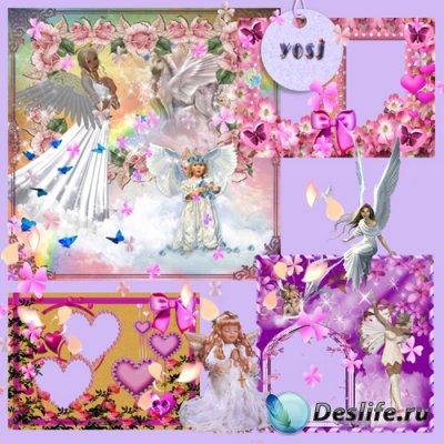 Набор PSD формата для фотошопа «Ангелы»