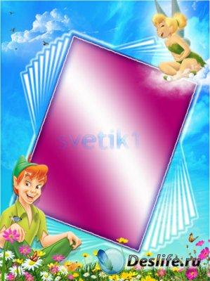 Детская рамка для фотошопа - Питер Пен