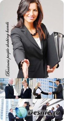Stock Photo: Business people shaking hands