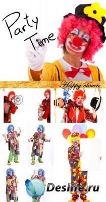 Stock Photo: Happy clown