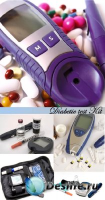 Stock Photo: Diabetic test Kit