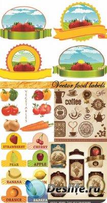 Vector food labels