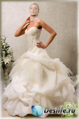 Женский костюм для фотошопа - В пышном платье
