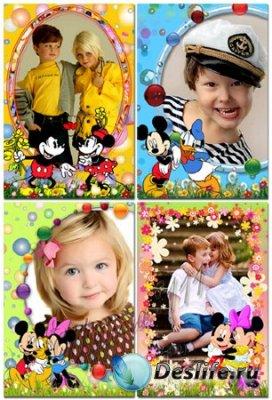 Детские рамки для фотошопа - Кружочки