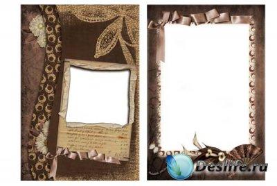 Рамочка для фотошопа - Шоколадная