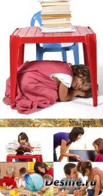 Stock Photo: Small pupils