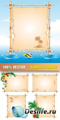 Stock Vector - Bamboo Frame
