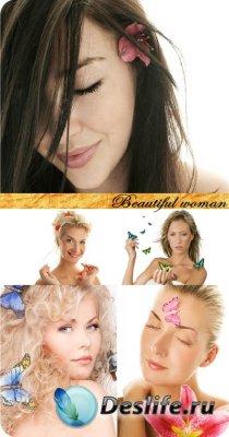 Stock Photo: Beautiful woman (Красивая женщина)