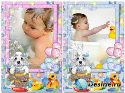 Детские рамки для фотошопа - Мойдодыр
