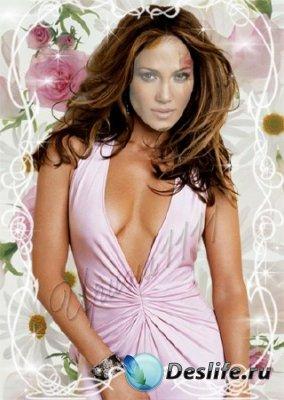 Женский костюм для фотошопа - Розовая мечта
