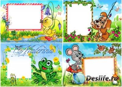 Детские рамки для фотошопа - Дружная четвертка