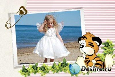 Рамка для фотошопа - Тигренок