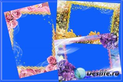 Рамка для фотошопа - Нежность цветков