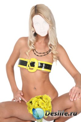 Костюм для фотошопа – C жёлтыми цветами
