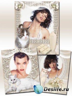 Рамки для Фотошопа с кошками