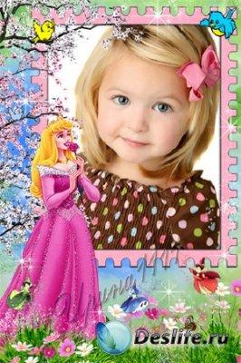 Детская рамка для фотошопа - Принцесса
