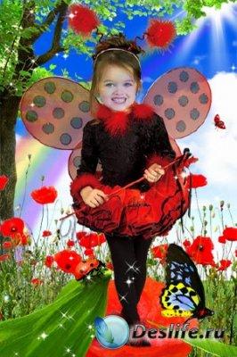Детский костюм для фотошопа - Божья коровка