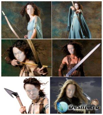 Костюмы для фотошопа - Вооруженные девушки