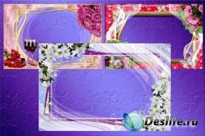Рамки для фотошопа - Цветочная ч.3