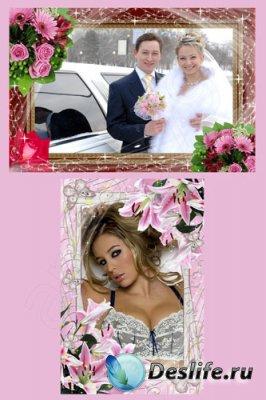 Рамки для фотошопа  - Цветочная ч. 4