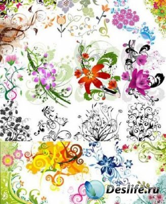 Клипарт цветы Mix.